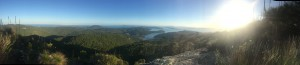 The highest point in the Whitsundays. 45 minute 5km hike I think.