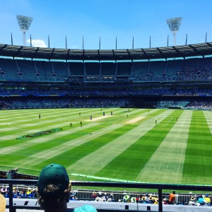 Australia vs India ODI. Australia won after I left at half time because I was bored