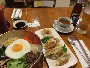 First stop in Sydney was a Korean restaurant. Bibimbap + Mandu <3