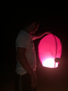 Lit a lantern and watched it float away. I can reveal that my wish has not come true.
